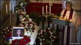 Đám tang các nạn nhân ở Na Uy