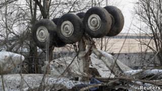 Обломки Ту-154 под Смоленском