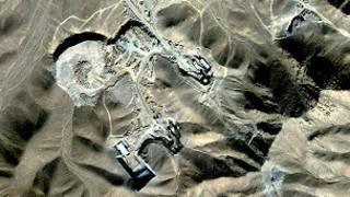 عکس ماهواره ای از محل سایت فردو