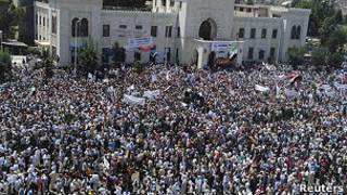 جانب من المظاهرات السورية