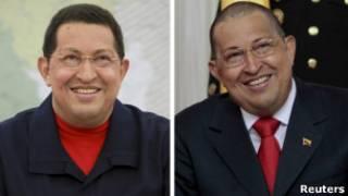Уго Чавес - с волосами и без