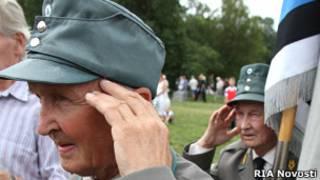 Бывшие военнослужащие эстонской 20-й дивизии СС