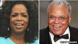 Oprah Winfrey và James Earl Jones