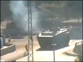 An jibge tankuna a tsakiyar birnin Hama na Syria