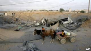 مدخل احد انفاق غزة