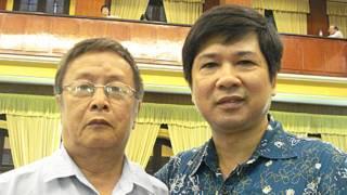 Nhà văn Phạm Đình Trọng (trái) và Tiến sỹ Cù Huy Hà Vũ