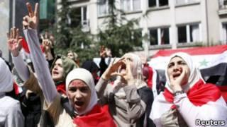 Массовые демонстрации в Сирии