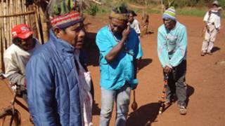 Índios guarani, no Mato Grosso do Sul. Divulgação/Anistia Internacional