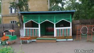 Веранда детскогог сада в Комсомольске-на-Амуре