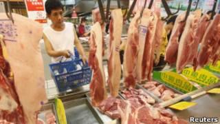 武漢消費者選購豬肉(09/08/2011)