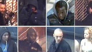 Suspeitos de distúrbios em Londres, segundo imagens da Scotland Yard