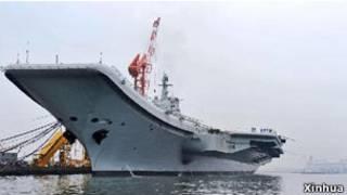 中國首艘航空母艦出海試航(資料照片)