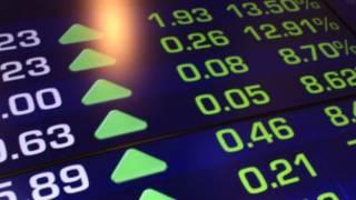 Bảng điện tử của thị trường chứng khoán Australia.