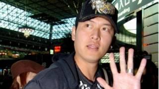在美國大聯盟職棒擔任投手的台灣球員王建民