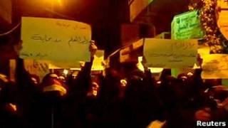 مظاهرة نسائية في منطقة الزبداني تطالب بإطلاق سراح المعتقلين