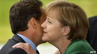 Angela Merkel y Nicolas Sarkozy (julio de 2011)