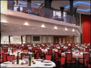 复制的泰坦尼克的豪华宴会厅