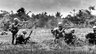 Lính miền Nam bắn quân miền Bắc ở Cai Lậy dọc quốc lộ 4