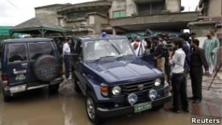 Полиция в Лахоре у дома похищенного американца