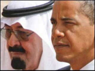 ولسمشر اوباما او سعودي پاچا، عبدالله