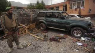 ساختمان ولایت پروان پس از حمله