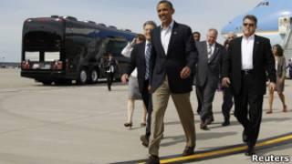 Barack Obama em Minneapolis, no estado de Minessota. Reuters