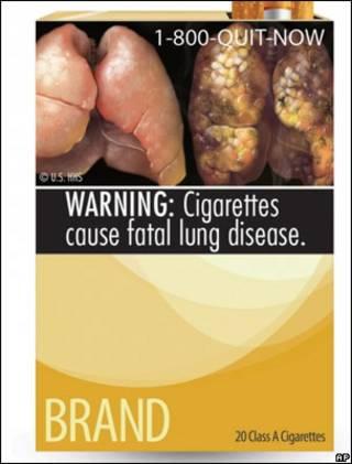 Пачка сигарет с объявлением о вреде курения