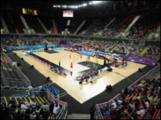 奥运篮球馆内比赛