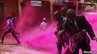 تفريق مظاهرة في كمبالا