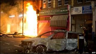 伦敦骚乱现场