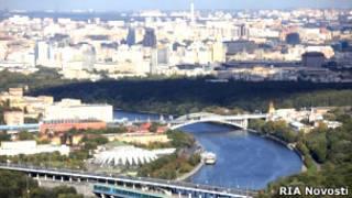 Вид Москвы с верхнего этажа МГУ