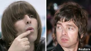 Los hermanos Liam y Noel Gallagher