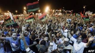 احتفالات المعارضة الليبية