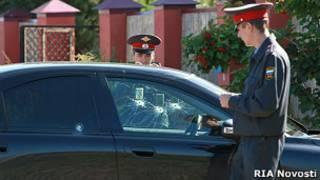 На месте убийства мэра Сергиева Посада Евгения Душко