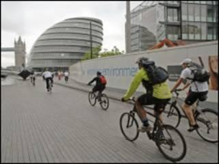 骑自行车的伦敦人
