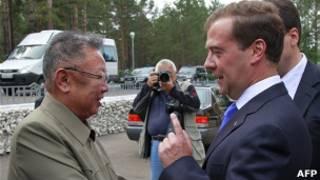 Tổng thống Nga Dmitry Medvedev đã có cuộc hội đàm ở Siberia với lãnh đạo Bắc Hàn Kim Jong Il.