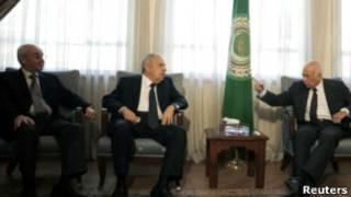 دبیرکل اتحادیه عرب با نمایندگان شورای ملی انتقالی