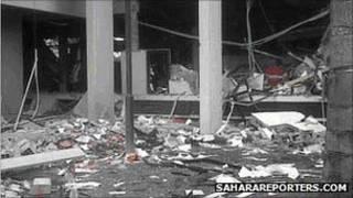 Local da explosão/saharareporters.com