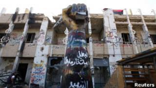 Quartel-general de Khadafi. Reuters