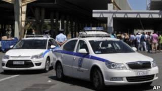 Carro da polícia grega/AP