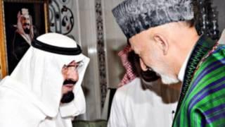 حامد کرزی و ملک عبدالله