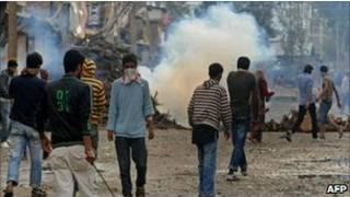 भारतीय कश्मीर में विरोध प्रदर्शन