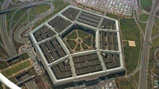 vista aérea del Pentágono, Washington