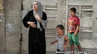 Семья арестованного иракскими солдатами в момент задержания, 2008 год