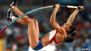 Елена Исинбаева на чемпионате мира