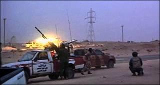 लीबिया में गद्दाफ़ी विरोधी लड़ाके