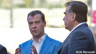 Дмитрий Медведев, Эмомали Рахмон