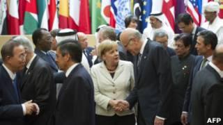 Líderes de governo na França. AFP