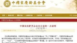 中國宋慶齡基金會發表聲明否認與河南宋基會有關。