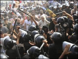 Artabu tsakanin 'yan sanda da masu adawa da Hosni Mubarak